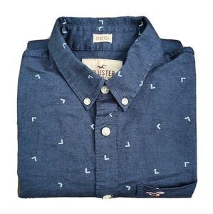 Hollister Blue Long Sleeve Button Down Shirt